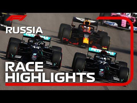 F1 ロシアGP 決勝レースのハイライト動画。優勝はボッタス。2位にフェススタッペン。