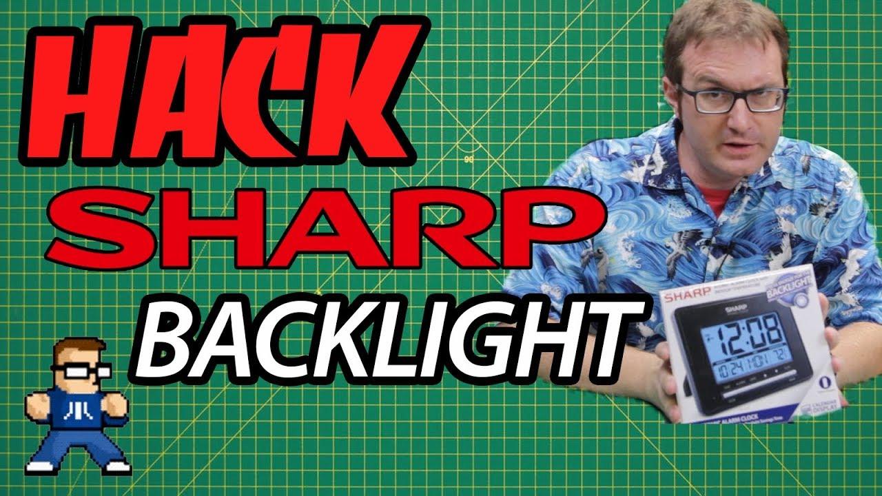 Sharp Atomic Alarm Clock Backlight Hack