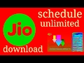 How to shedule download on android from jio unlimited! Night.