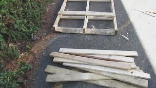 How To Take Apart Pallets Without Any Special Tools!