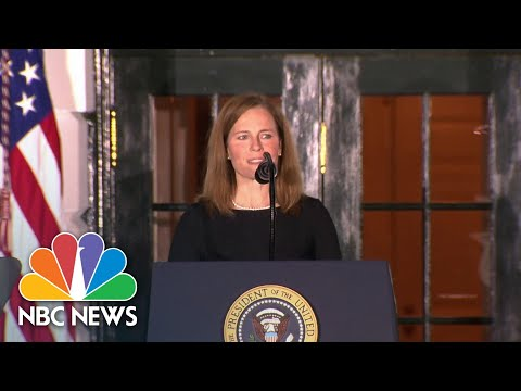 Amy Coney Barrett Gives Speech After Supreme Court Confirmation | NBC News