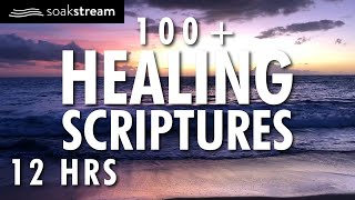 100+ Healing Scriptures With Soaking Music 4 | Bible Verses For Sleep | 12 HRS (2020)