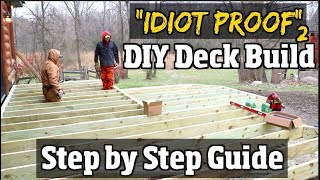 """DIY How to build a Deck -  Step by Step Guide to Composite decks pt2 of our """"Idiot proof"""" series"""