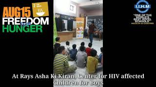 Freedom From Hunger Campaign on Independence Day at IIHM