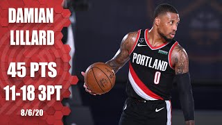 Dame Lillard records career night in Blazers vs. Nuggets | 2019-20 NBA Highlights