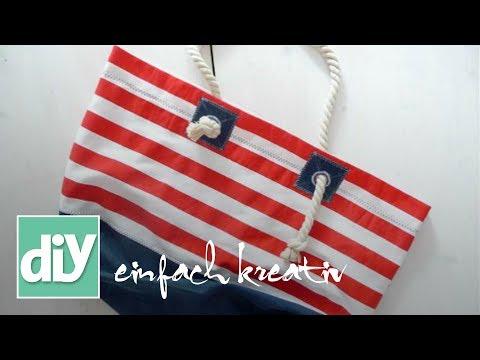 Tasche im Marine-Look | DIY einfach kreativ