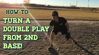 How to Turn a Double Play From Second Base! – Baseball Fielding Drills