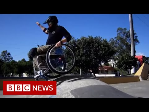 The backflipping wheelchair star helping others - BBC News
