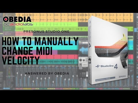 Get Started with Studio One: How to manually change MIDI Velocity