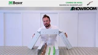 Tutorial sobre cambios de nivel bandejas portacable plásticas Basorplast BPE