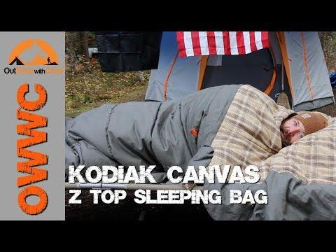 NEW Kodiak Canvas Sleeping Bag – Z-Top Sleeping Bag Review