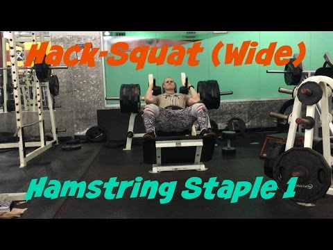Wide hack Squat
