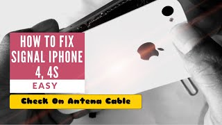 How To Fix Signal Cellular Iphone 4, 4s, Easy