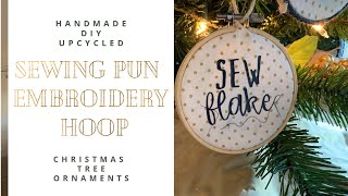 DIY, Upcycled, Scrap Busting Embroidery Hoop Christmas Tree Ornaments