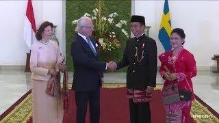 Lihat yang Dikenakan Presiden Jokowi saat Menyambut Raja dan Ratu Swedia di Istana Bogor!