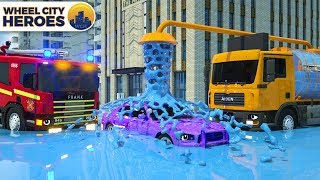 Water Truck Help Police Car | Wheel City Heroes (WCH) | Street Vehicles Cartoon