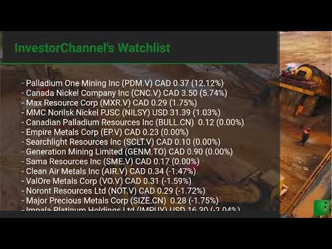 InvestorChannel's Palladium Watchlist Update for Friday, F ... Thumbnail