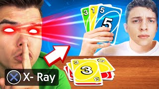 I USED X-RAY To See My Friends CARDS! (Uno)