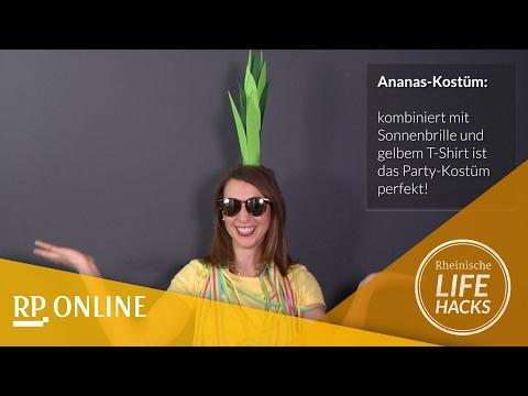 """Karneval: So geht das Last-Minute-Kostüm """"Ananas"""""""