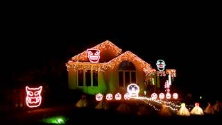 "2013 Jaeger Holiday Haus Halloween Light Show ""Spooky Scary Skeletons"" Andrew Gold"