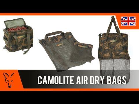 Fox Camolite Air Dry Bag Large Bojliszárító Táska (Ajándék Horogcsalis Táskával) videó