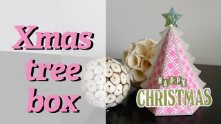 DIY: Christmas tree box - Caja árbol de Navidad