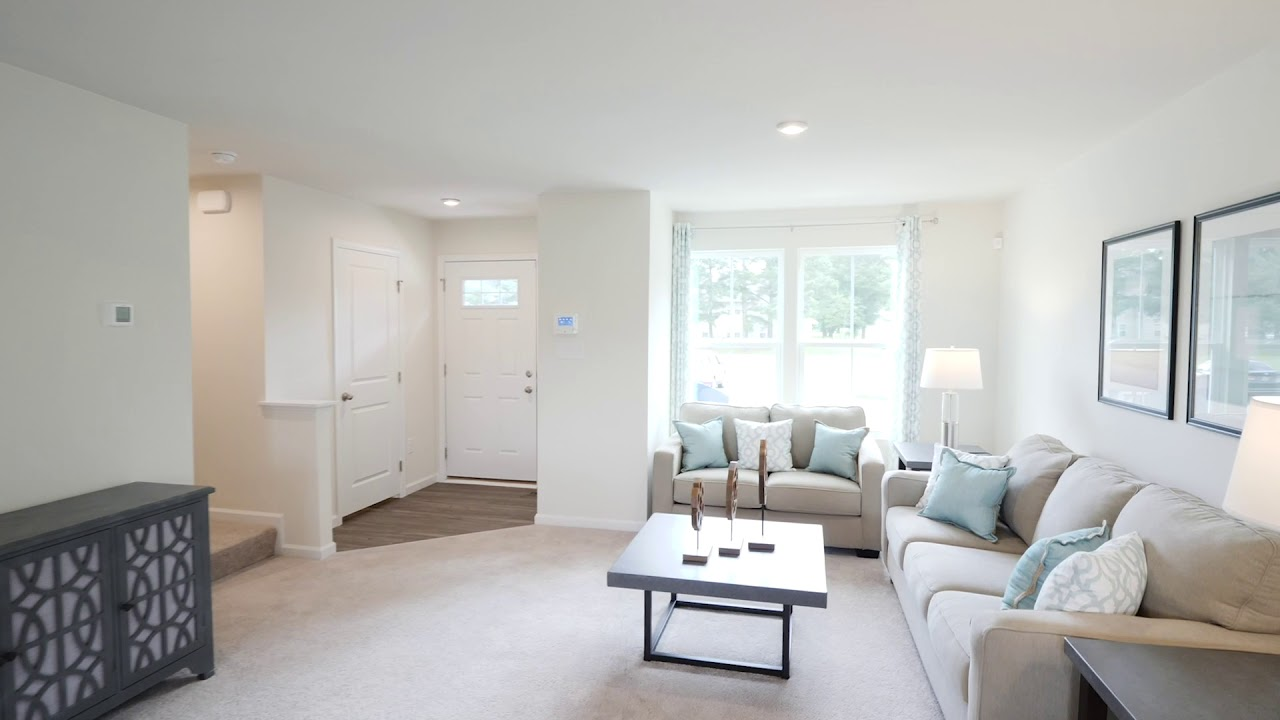 New Plan1307 Townhome Model For Sale At Moore S Pointe Towns In Suffolk Va