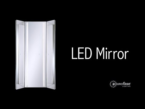 Video for Clear 20-Inch Rectangular Edge-Lit LED Wall Mirror