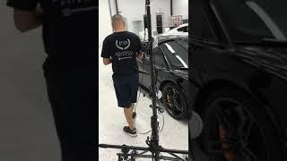 Preparing a Supercar for clear bra