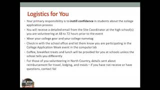 2019 College Application Month Volunteer Training Video