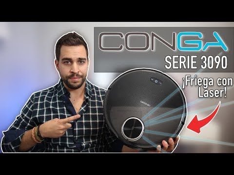 Conga 3090, nuevo Robot Aspirador que friega con Láser | Review