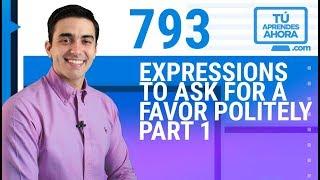CLASE DE INGLÉS 793 Expressions to ask for a favor politely part 1