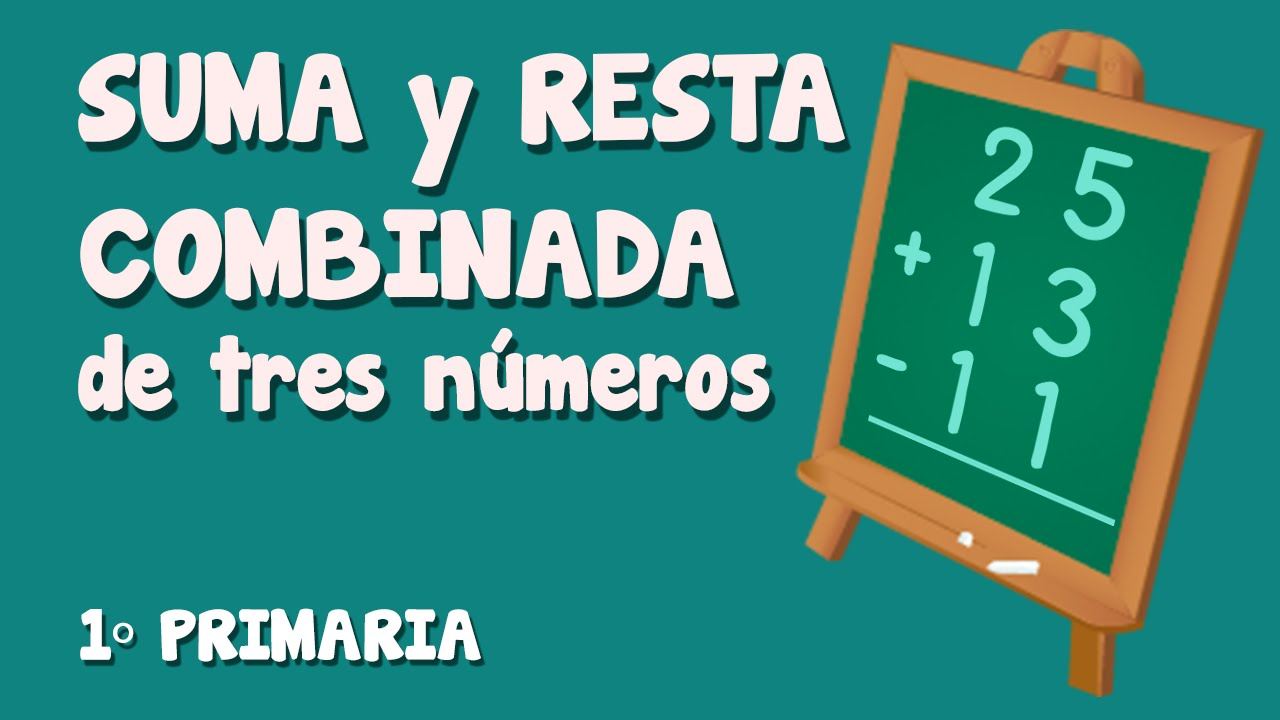 Sumas y restas combinadas de tres números para niños de Primaria (1/3)