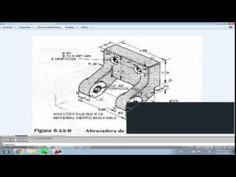 abrazadera de palanca 3D en autocad