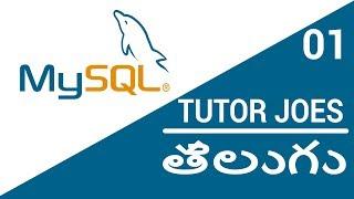 MySQL Complete Tutorial From Scratch In Telugu - 2018    #TJTELUGU   తెలుగు