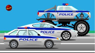 Мультики про машинки. Полицейская погоня. Машины для детей.