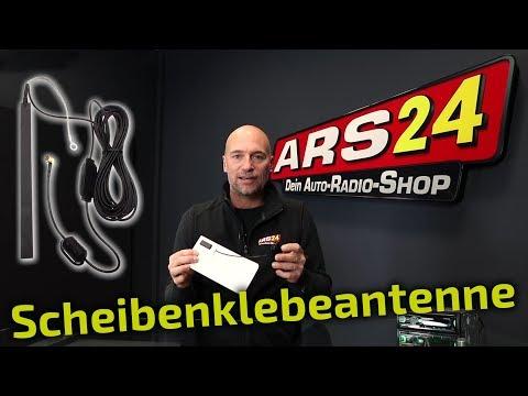 DAB+ Glas-Klebeantenne im Auto nachrüsten | TUTORIAL | ARS24.com