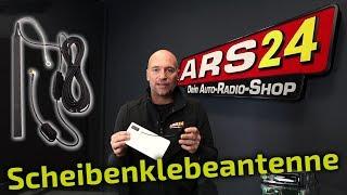 DAB+ Scheiben-Klebeantenne im Auto nachrüsten | ARS24