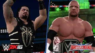 WWE 2K16 Creations: Roman Reigns & Triple H WrestleMania 32 Attires (PS4)