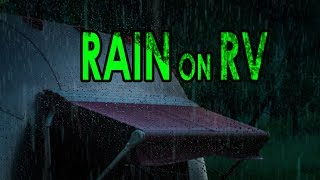 🎧 NIGHT RAIN ON RV | Soothing Ambient Noise for Sleep and Relaxation, @Ultizzz day#32