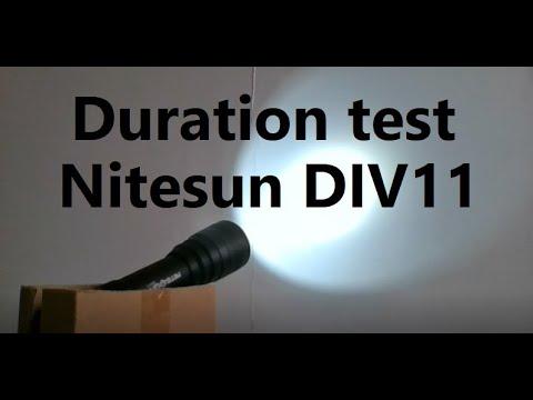 Duration Test Battery Skywolfeye Li-Ion 18650 5800mhA with Banggood Nitesun DIV11 Diving Flashlight