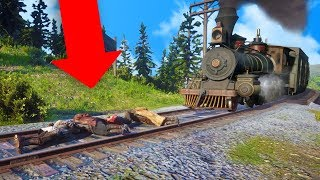 TYING PEOPLE TO THE TRAIN TRACKS ONLINE! | Red Dead Redemption 2 Online Outlaw Life #15