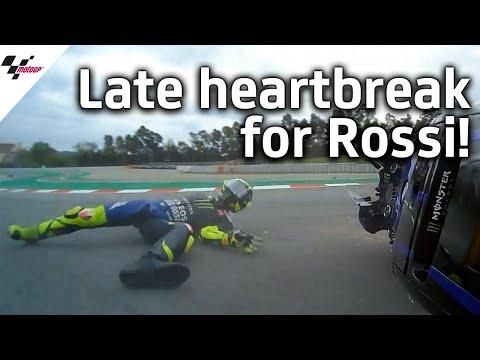 2位走行中に転倒してしまったバレンティーノ・ロッシの衝撃の転倒シーン動画。MotoGP カタルーニャGP