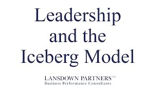 Video 21: Leadership and the Iceberg Model