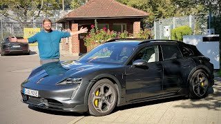 Collecting A Porsche Taycan Cross Turismo At The Factory For Euro Adventures!