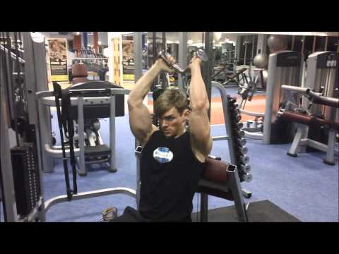 Seated Overhead Cable Tricep Extensions