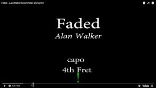 Faded - Alan Walker Easy Chords And Lyrics (4th)