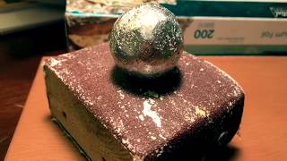 How To Polish A Tin Foil Ball Without A Hammer - Video Youtube