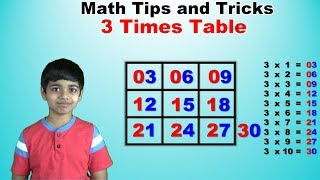 Learn 3 Times Multiplication Table | Easy and fast way to learn | Math Tips and Tricks