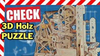 ✅ ROKR Holzpuzzle Bausatz 3D Murmelbahn  TEST
